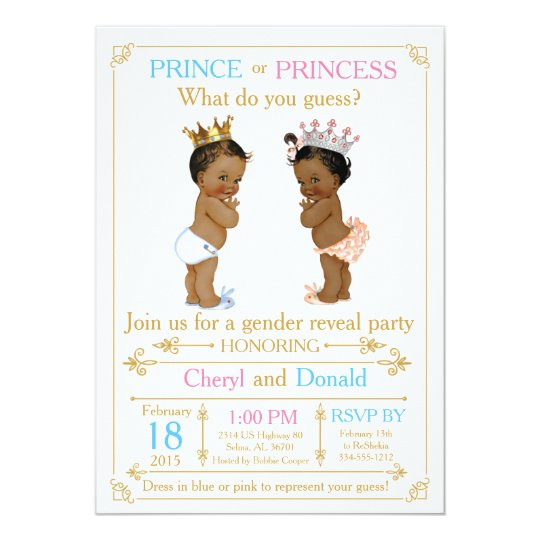 Gold Prince or Princess Gender Reveal Baby Shower