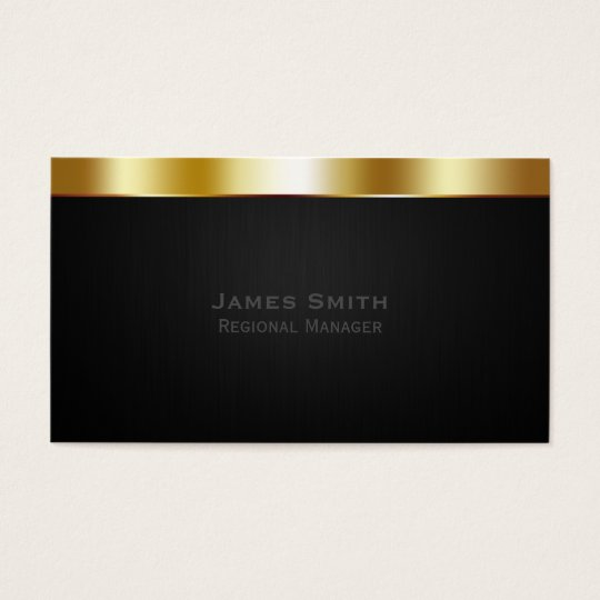 Gold Professional Business Card