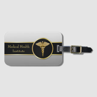 Gold Professional Medical Caduceus - Luggage Tag