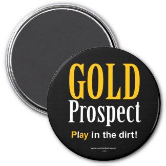 Gold Prospect 7.5 Cm Round Magnet