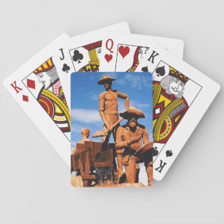 Gold Prospector and Miners Statue Photo Designed Card Decks