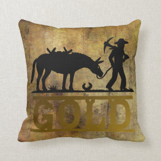 Gold Prospector Throw Pillow