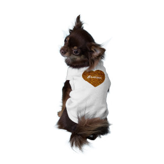 Gold Puppy Love Faux Glitter Heart Shirt