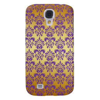 Gold, Purple Damask Pattern 2 Samsung Galaxy S4 Cover