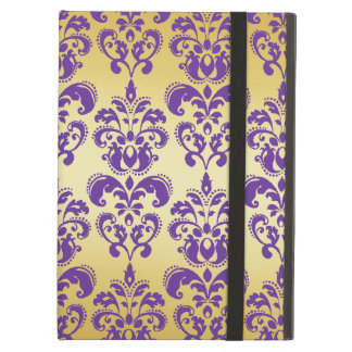 Gold, Purple Damask Pattern 2 Case For iPad Air