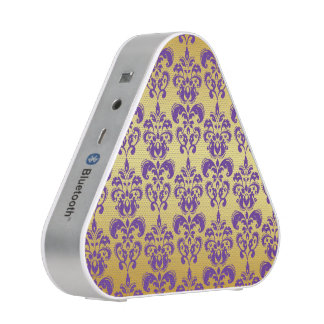 Gold, Purple Damask Pattern 2 Speaker