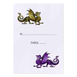 Gold Purple Dragon Wedding Place Card Pack Of Chubby Business Cards
