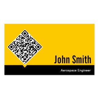 Gold QR Code Aerospace Engineer Business Card