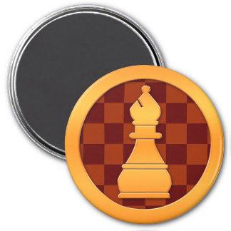 Gold Queen Chess Piece Fridge Magnets
