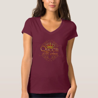Gold Queen of Palace Font with Crown & Filigree T T-Shirt