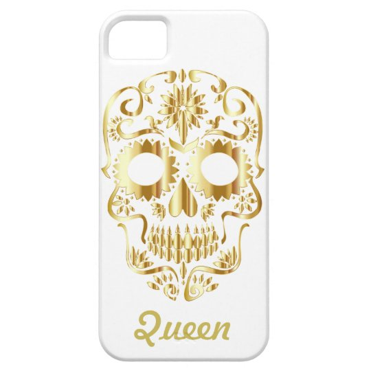 Gold Queen Sugar Skull Barely There iPhone 5