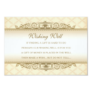 Gold Quilted Print Baroque Wishing Well Cards