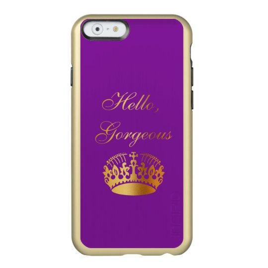 Gold quote chic luxury girly design incipio feather® shine iPhone 6 case