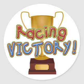 Gold Racing Trophy Sticker