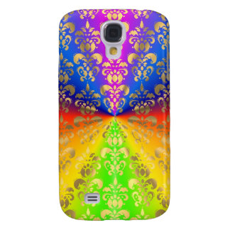Gold rainbow damask galaxy s4 case