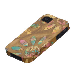 Gold Rainbow Pastels Daisy Flower Batik iPhone 4/4S Cover