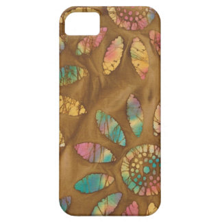 Gold Rainbow Pastels Daisy Flower Batik iPhone 5 Cases