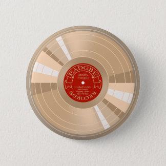 Gold Record 6 Cm Round Badge