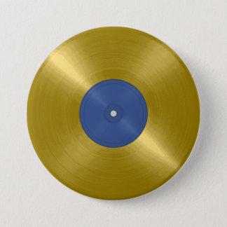 Gold Record Album 7.5 Cm Round Badge