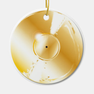 Gold Record Christmas Ornament