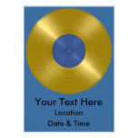 Gold Record with Blue Label Personalised Announcement