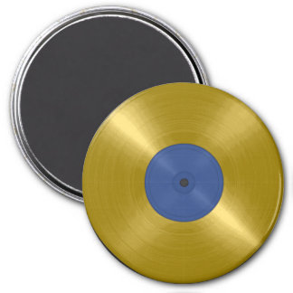 Gold Record with Blue Label Magnets