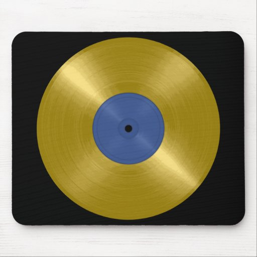 Gold Record with Blue Label Mouse Pads