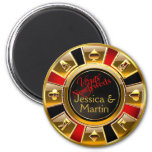 Gold, Red & Black Vegas Casino Chip Favour