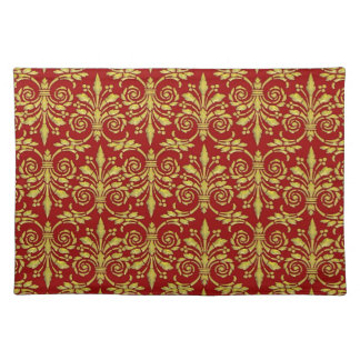 Gold & Red Damask Placemats