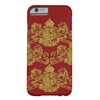 Gold Red Dieu et Mon Droit British Coat of Arms Barely There iPhone 6 Case
