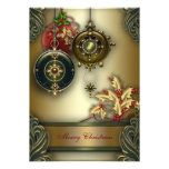 Gold Red Green Christmas Holiday Party Personalized Announcement