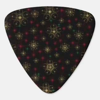 Gold Red Green Crop Circle Guitar Pick