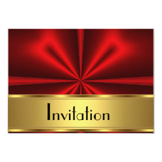 Gold Red Invitation Any Party