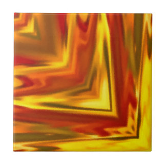 gold red orange spicy abstract square mandala tile