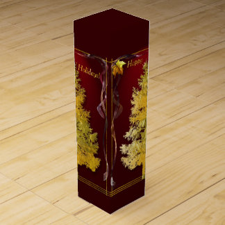 Gold & Red (r) Wine Gift Box