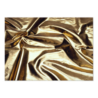 "Gold reflective lame 5"" x 7"" invitation card"