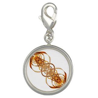 Gold Resonance Wave bracelet charm