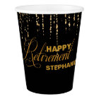 Gold Retirement Party, Custom Paper Cup
