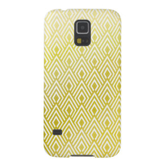Gold Retro Art Deco Diamond Samsung Galaxy S5 Case