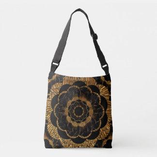 Gold Retro Style Mandala Hippie Crossbody Bag