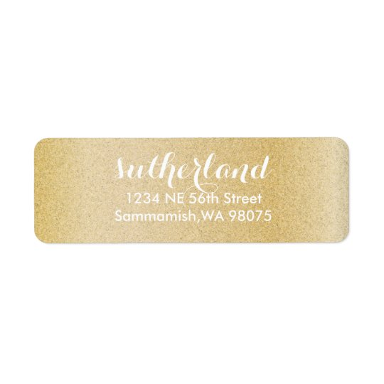 Gold Return Address Labels