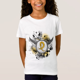 Gold Ribbon And Wings Childhood Cancer T-Shirt