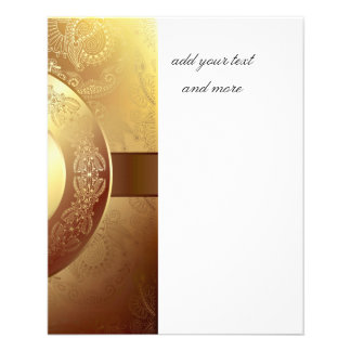 Gold,ribbon,lace,black,elegant,template,customise 11.5 Cm X 14 Cm Flyer