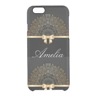 Gold,ribbon,lace,black,elegant,template,customise iPhone 6 Plus Case
