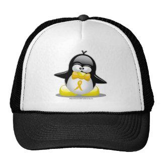 Gold Ribbon Penguin Cap