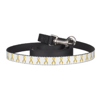 Gold Ribbon Support Awareness Dog Lead