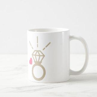 Gold ring basic white mug