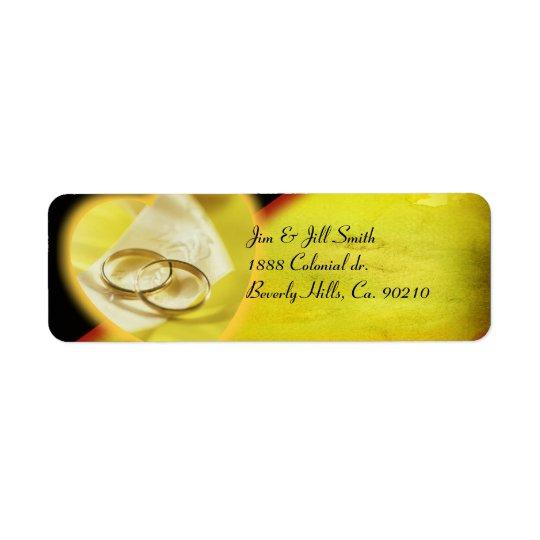 Gold Rings Glow Set Return Address Label