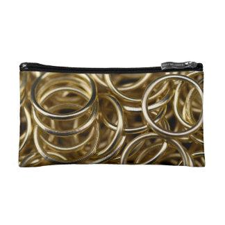 Gold Rings Makeup Bag