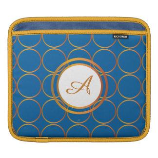 Gold rings monogram iPad sleeve